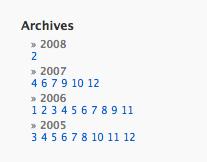 [ WordPress ] monthchunks - 月別リストをスッキリ表示するプラグイン