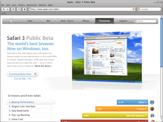 Safari 3 Public Beta