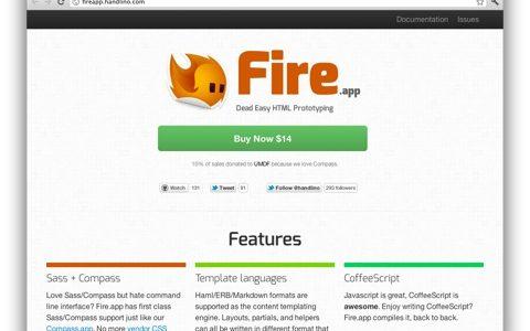 [ Fire.app ] CSS, JavaScript, HTML を生成する Mac アプリをビルドしてみた