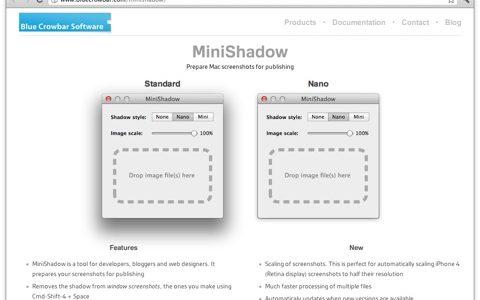 スクリーンショットの影の幅を調整する Mac アプリ [ MiniShadow ] が心地良い件