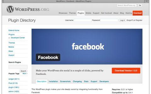 [ Facebook for WordPress  ] コードを書かずに Facebook の機能をまとめて実装できるプラグイン