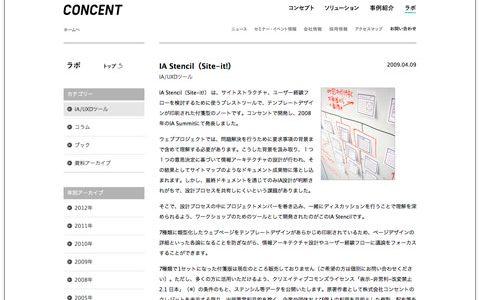 テンプレートデザインされたブレストツール [ IA Stencil ( Site-it! ) ] 使ってみた