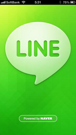 LINE の iPhone アプリをインストールしてみた。