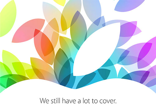 アップルが10月22日のスペシャルイベントで、OS X Mavericks、新 MacBook Pro、iPad Air、iPad mini with Retina などの新製品を発表!