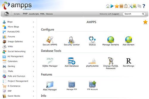 [ AMPPS ] Apache + PHP + MySQL などのローカル開発環境を構築し、約 260 種類の CMS をワンクリックでインストール出来るソフトウェア!