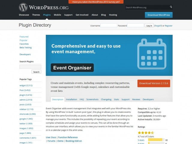 [ Event Organiser ] 簡単・多機能! イベントカレンダーを管理できる WordPress プラグイン