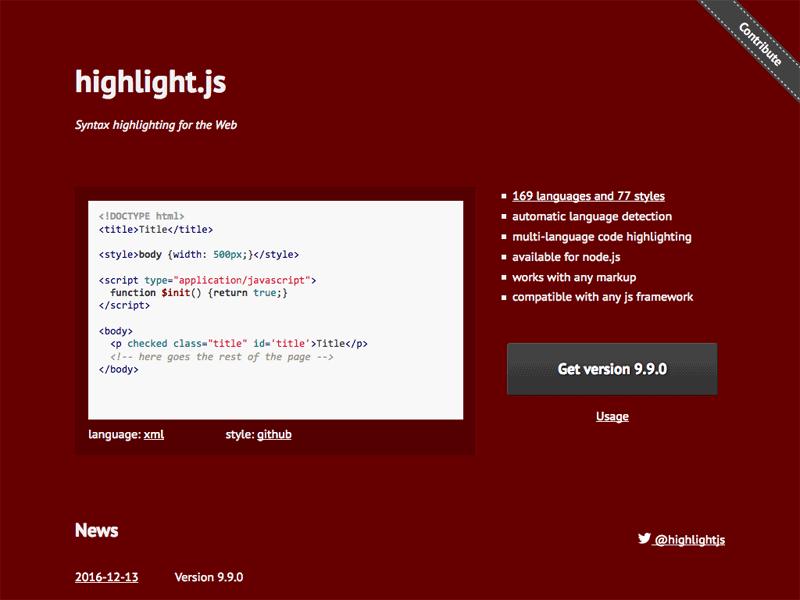 ブログに掲載するソースコードのシンタックスハイライトを google-code-prettify から highlight.js に乗り換えた